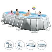 Каркасный бассейн Intex 26796 (503х274х122см) + фильтр-насос, лестница, тент, подстилка