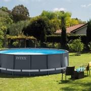 Каркасный бассейн Intex 26326 (488х122см) + песочный фильтр-насос, лестница, тент, подстилка