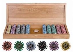 Кейс для покера деревянный на 500 фишек Платан, шт