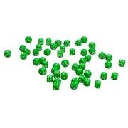 Кости игральные пластиковые, 10мм, 1 шт, цвет зеленый
