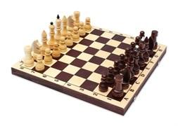 Шахматы обиходные лак с темной доской