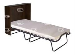Кровать-тумба Карина раскладная с матрасом + ограничители матраса (раскладушка) дуб, орех, венге 1900x800x380мм