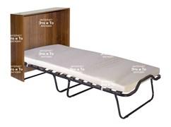 Кровать-тумба Карина (дуб, орех, венге) раскладная с матрасом + ограничители матраса (раскладушка) 1900x800x380мм