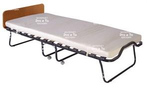 Раскладушка Элеонора М (дуб, орех, венге) с матрасом + изголовье, ограничители матраса, ремешок-фиксатор (раскладная кровать-тумба) 2000x900x430мм
