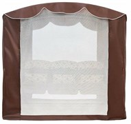 Тент крыша SEBO с актимоскитной сеткой для качелей Оазис Люкс Шоколад
