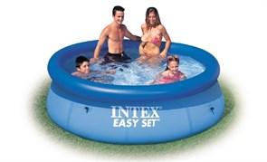 Надувной бассейн Intex 28110 с надувным верхним кольцом (244х76см)
