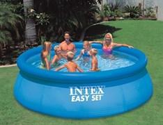 Надувной бассейн Intex 28130 с надувным верхним кольцом (366х76см)