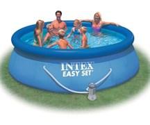 Надувной бассейн Intex 28132 с надувным верхним кольцом + фильтр-насос (366х76см)