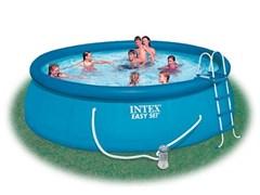 Надувной бассейн Intex 56912 с надувным верхним кольцом (457х122см)