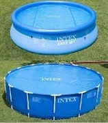 Тент солнечный прозрачный для круглого бассейна 244см Intex 29020