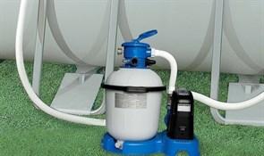 Песочный фильтр насос + хлорогенератор для бассейна (10000л/ч) Intex 28682
