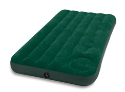 Надувной матрас Intex 66927 односпальный Downy со встр. ножным насосом  (99х191х22)