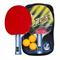 Набор для н/т DOBEST BB01 2 звезды (2 ракетки + 3 мяча) - фото 10747